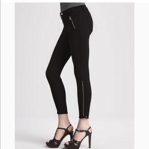 J Brand Carey Jewel Moto zip pant black 25